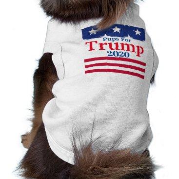 Pups for Trump 2020 Dog Shirt