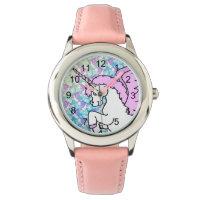 Purple and Pink Unicorn Pattern Watch