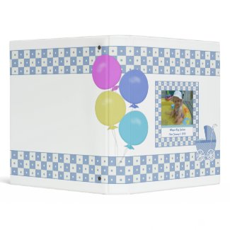 Purple and White Carriage Baby Binder binder