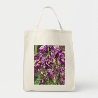 Purple and White Columbines Bag bag