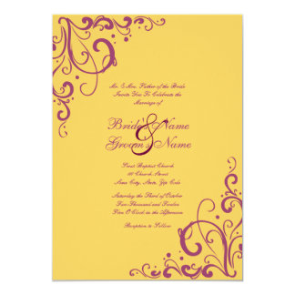 Imbue You Purple Red Gold Indian Wedding Invitation Wrap