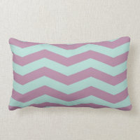 Purple/Aqua Chevron Throw Pillow