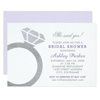 Tiffany Style Bling Bridal Shower Party Invitation