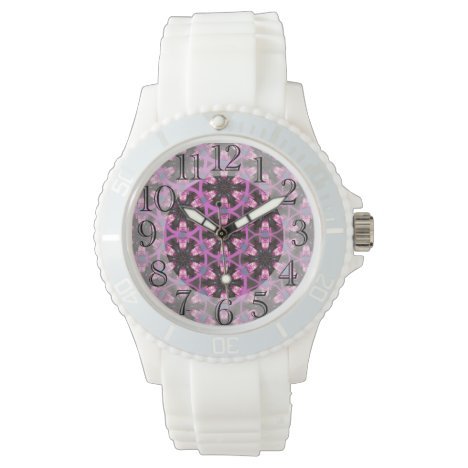 Purple & Burgundy Playful Patterned  Watch