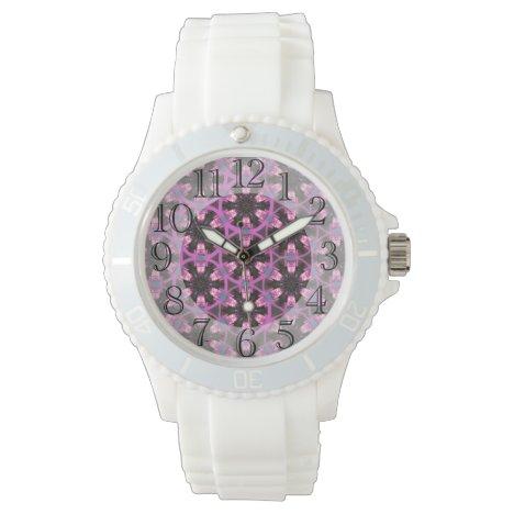 Purple & Burgundy Playful Patterned  Watch
