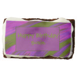 Purple chartreuse Color Swish Abstract Chocolate Brownie