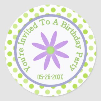 Purple Daisy: Save The Date Sticker zazzle_sticker