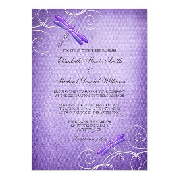 Baby shower invitations purple dragonfly filmwisefo