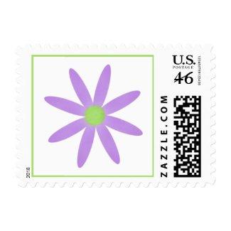 Purple Flower Postage Stamp zazzle_stamp
