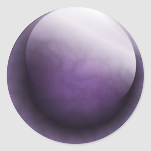Purple Gem Classic Round Sticker