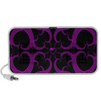 Purple Gothic Heart Fractal doodle
