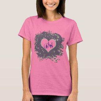 Purple Heart Om shirt
