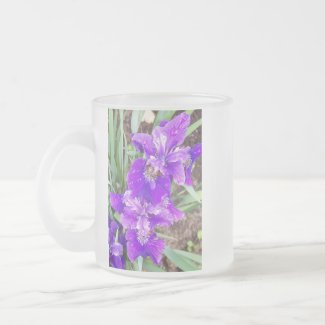 Purple Iris with Water Droplets Mug mug