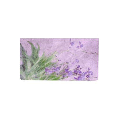 Purple Irises Watercolor - Checkbook Cover