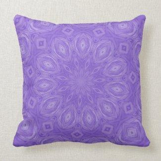 Purple Kaleidoscope Pillow
