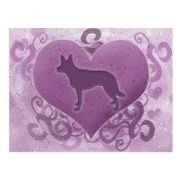 Purple Kelpie Valentine Postcard