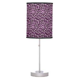 Purple Leopard Print Desk Lamps
