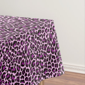 Purple Leopard Print Tablecloth