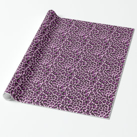 Purple Leopard Print Wrapping Paper