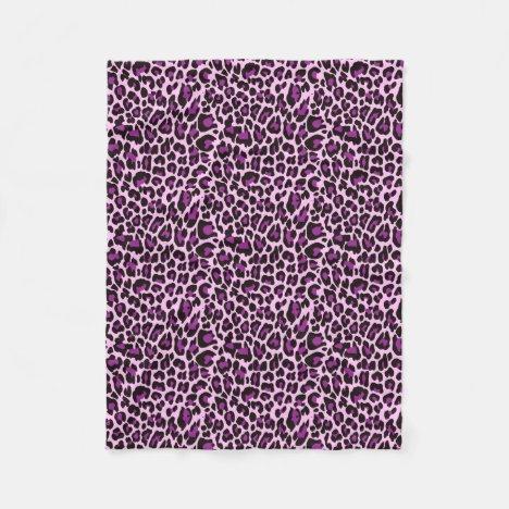Purple Leopard Skin Print Fleece Blanket