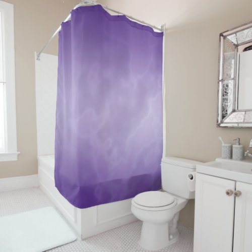 Purple Marble Shower Curtain