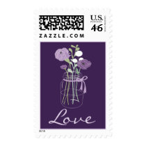Purple Mason Jar Love Stamps