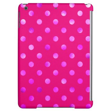 Purple Metallic Faux Foil Polka Dot Background Case For iPad Air
