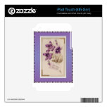 Purple Pansy Victorian Birthday Greetings skins