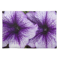 Purple Petunia Placemat Cloth Place Mat