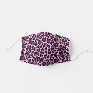 Purple Pink Leopard Print Skin Cloth Face Mask