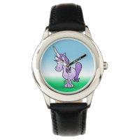 Purple unicorn wrist watch