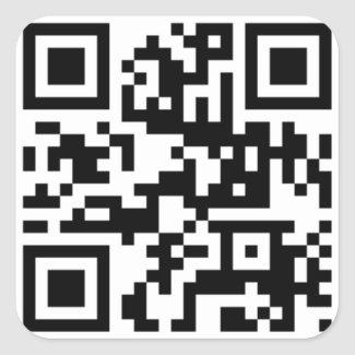 QR Code - Talk nerdy to me! Square Stickers