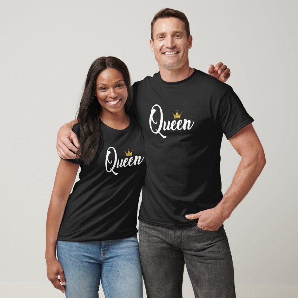 Cute Couple King Queen Matching Shirts