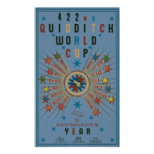 Quidditch World Cup Blue Poster