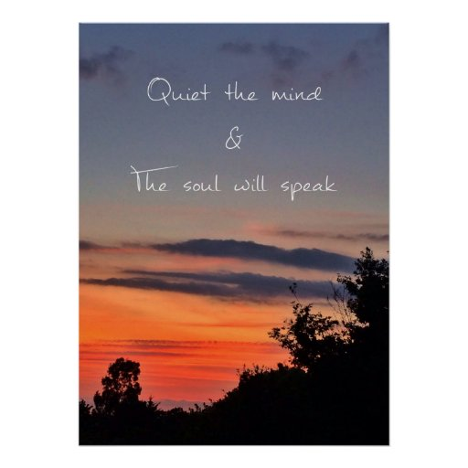 Quiet the mind poster