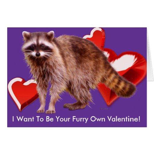 RACCOON BABY Valentines Day Card Zazzle