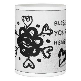 Rachel Doodle Art - Bless Your Heart Flameless Candle
