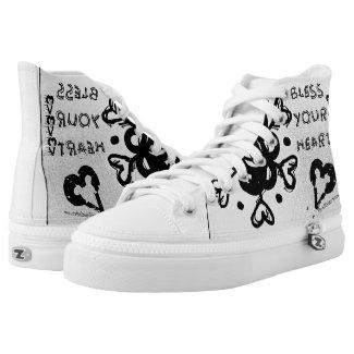 Rachel Doodle Art - Bless Your Heart Printed Shoes