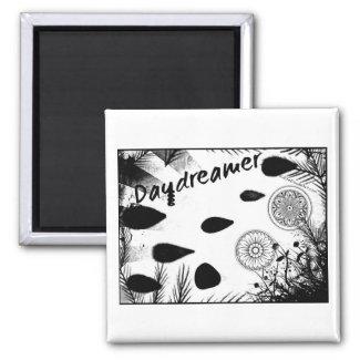 Rachel Doodle Art - Daydreamer 2 Inch Square Magnet