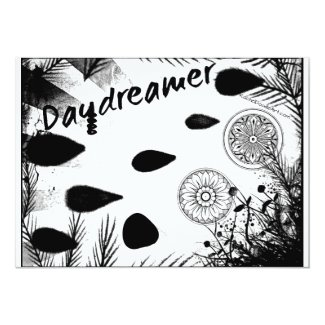 Rachel Doodle Art - Daydreamer 5x7 Paper Invitation Card