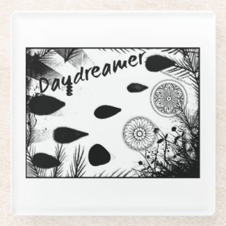 Rachel Doodle Art - Daydreamer Glass Coaster