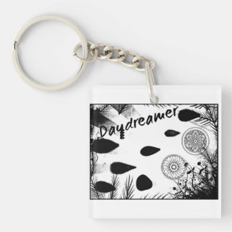 Rachel Doodle Art - Daydreamer Single-Sided Square Acrylic Keychain