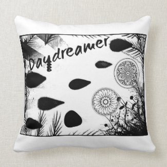 Rachel Doodle Art - Daydreamer Throw Pillow