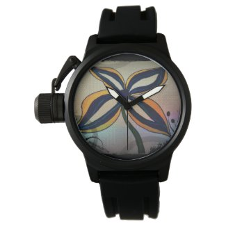 Rachel Doodle Art - Funky Flower Wristwatches