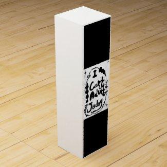 Rachel Doodle Art - I Can't Adult Today Wine Box