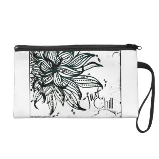 Rachel Doodle Art - Just Chill Wristlet