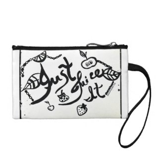 Rachel Doodle Art - Just Juice It Coin Purses