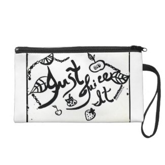 Rachel Doodle Art - Just Juice It Wristlet Purses