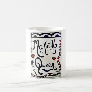 Rachel Doodle Art - Make-Up Queen Classic White Coffee Mug
