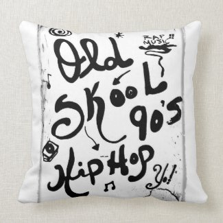 Rachel Doodle Art - Old-Skool 90's Hip-Hop Pillows